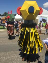 Un costume de la Super Parade du Carnaval Augmenté à la Foire Internationale de Bordeaux édition 2018